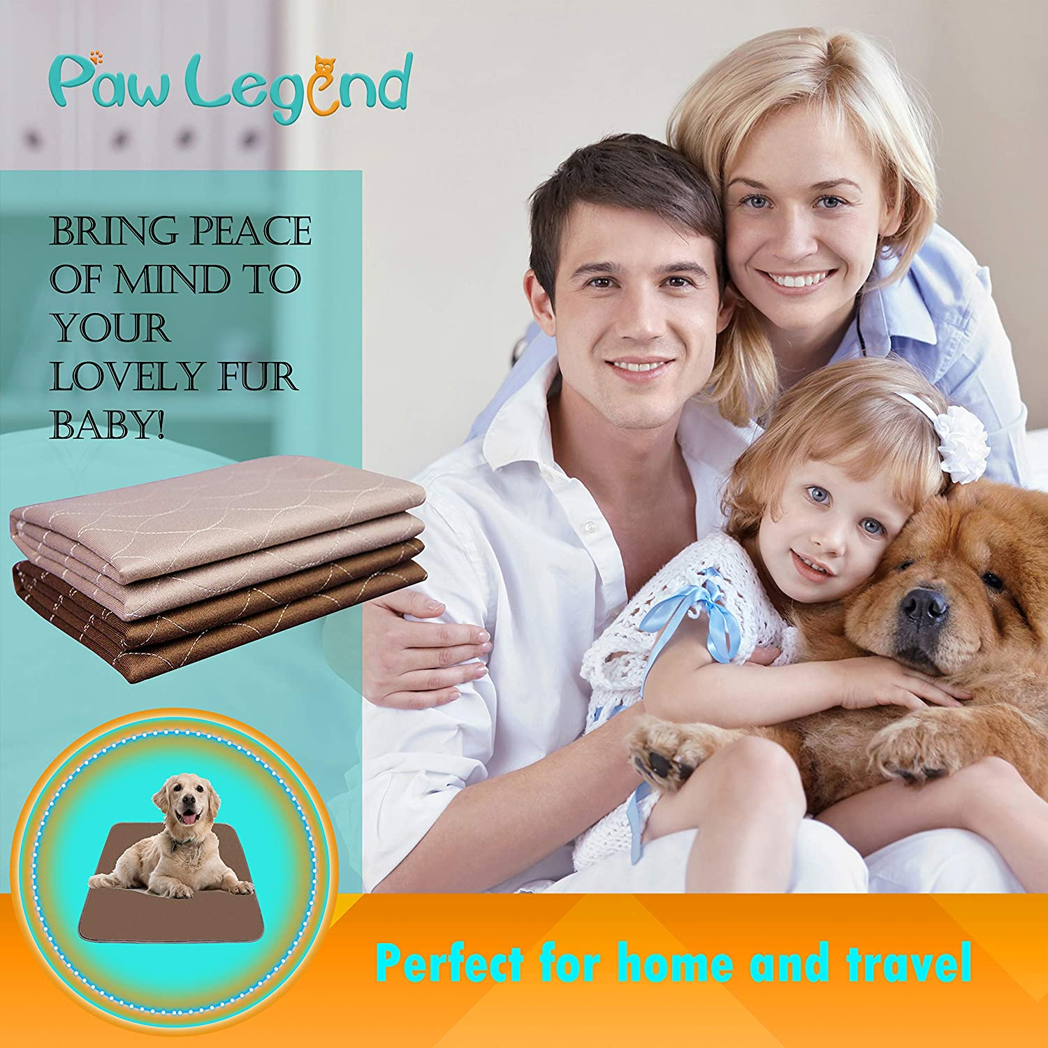 Machine washable pee pads for dogs