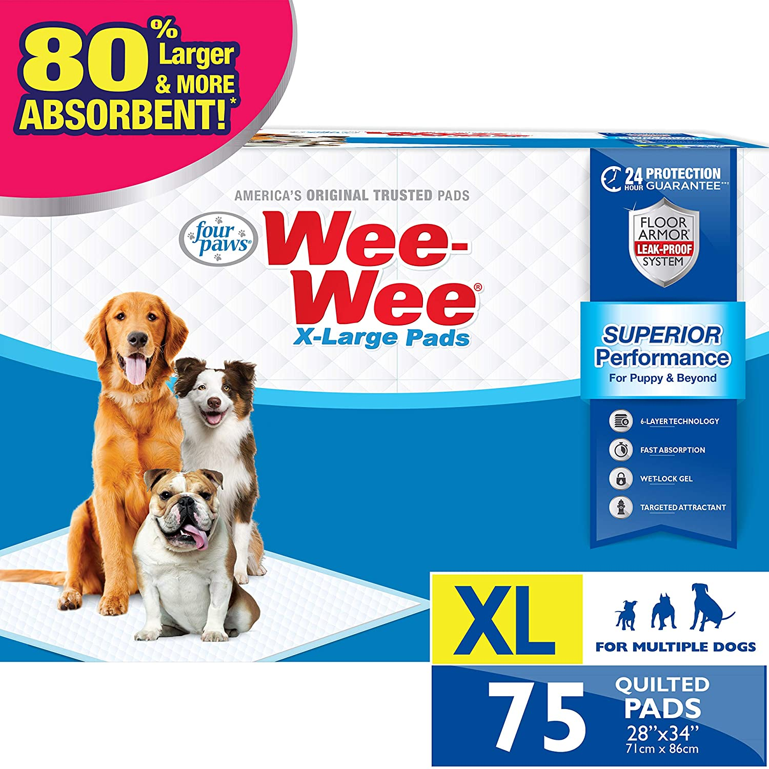 x-large dog pee pads for older dogs